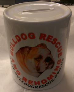 BULLDOG RESCUE LOGO MONEY BOX