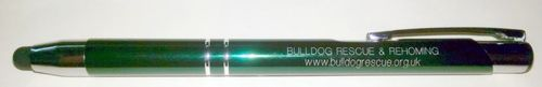 GREEN BULLDOG RESCUE PEN AND STYLUS